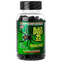 Black Spider 25 Ephedra, 100 капсул