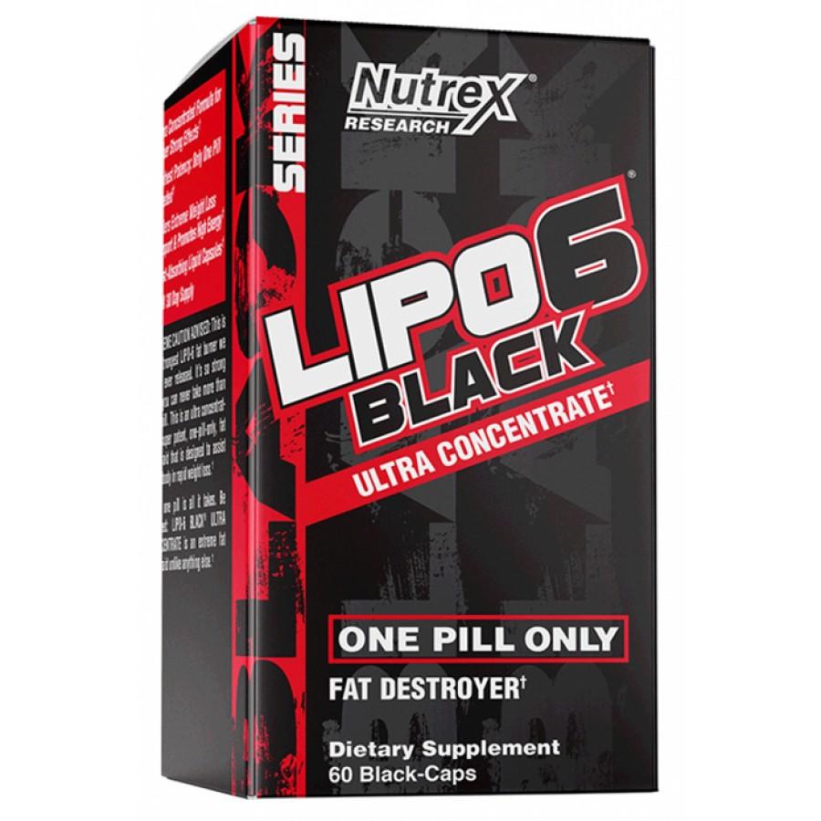 Nutrex Lipo 6 Black Ultra Concentrate 60 черных капсул