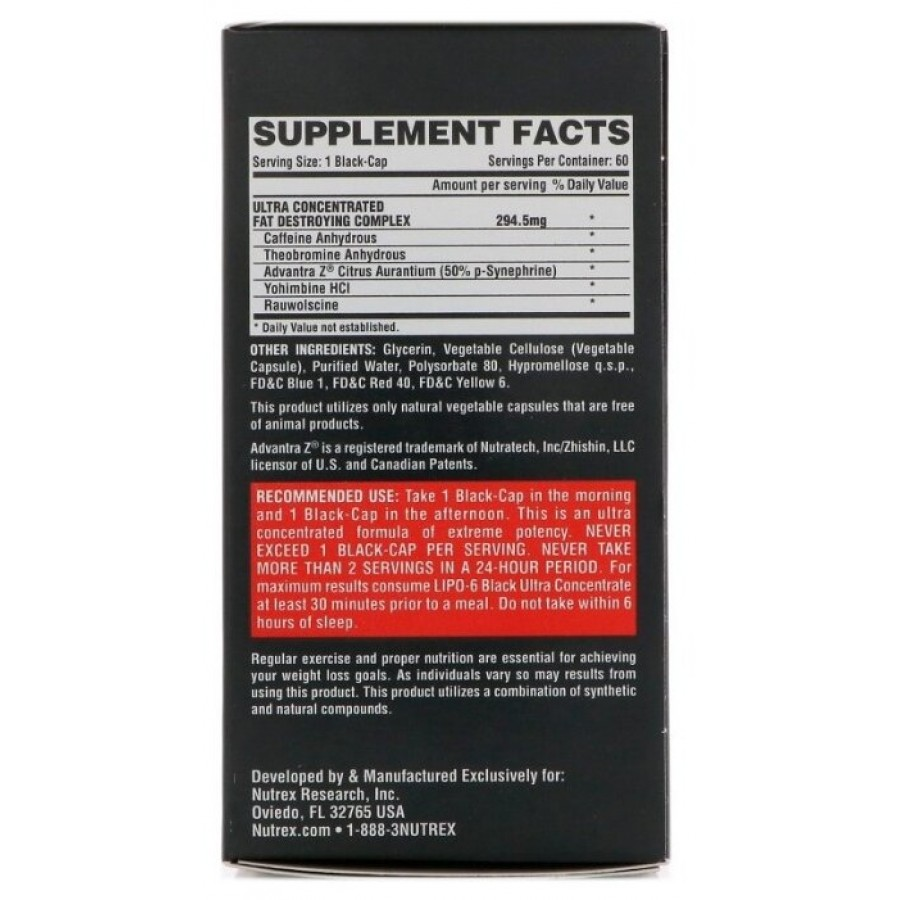 Nutrex Lipo 6 Black Ultra Concentrate 60 капсул