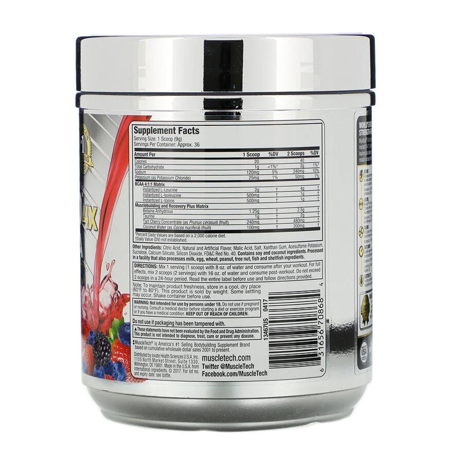 MyoBuild 4X Amino-BCAA, Fruit Punch Blast, 332 г