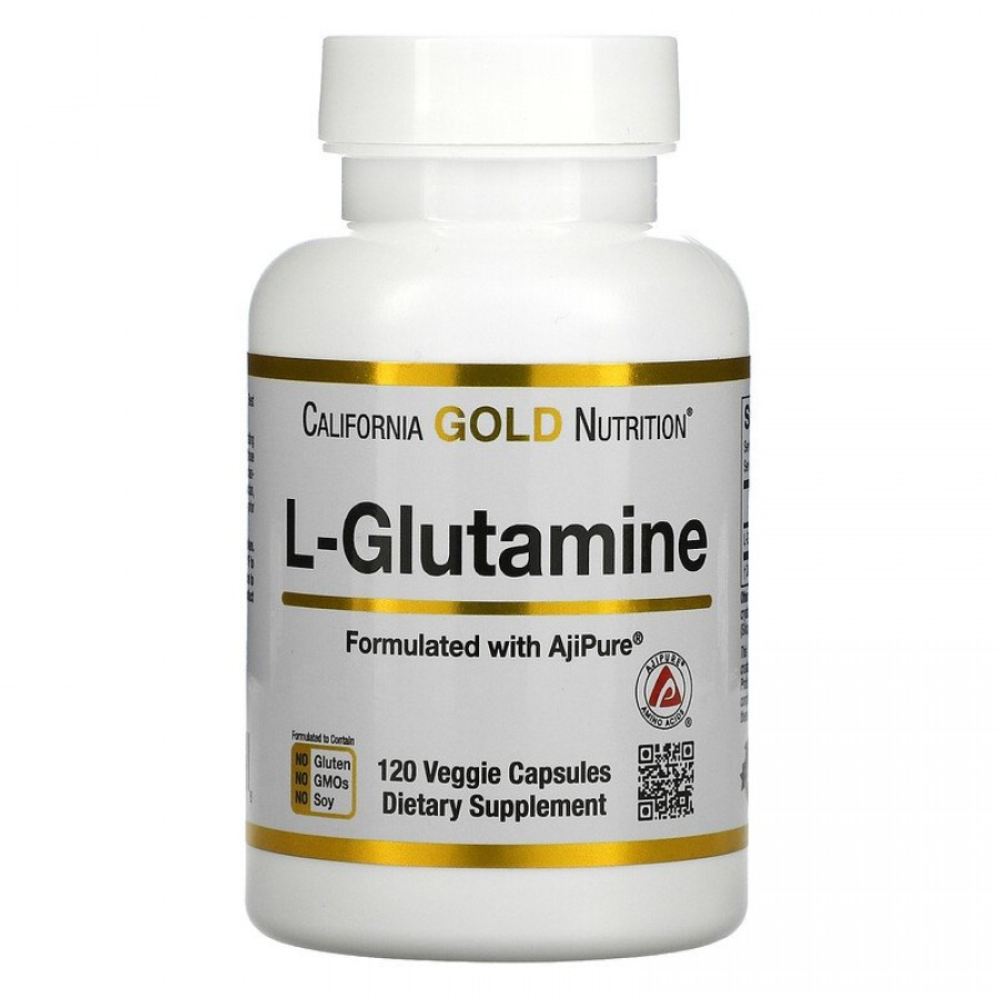 Сalifornia Gold- Nutrition, Glutamine 1000 mg, 120 Caps