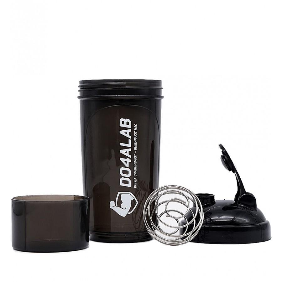 Шейкер Do4a Lab, черный, с контейнером, 500 ml