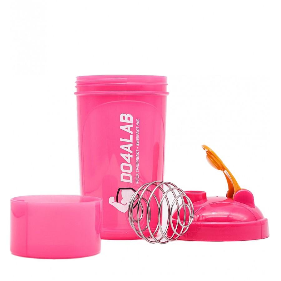 Шейкер Do4a Lab, розовый, с контейнером