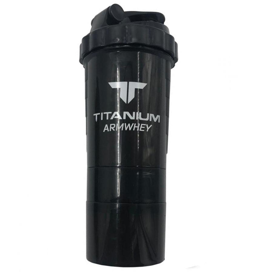 Smart shaker, черный, с контейнерами, 500 ml