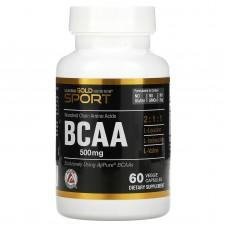 California Gold Nutrition BCAA, 60 caps