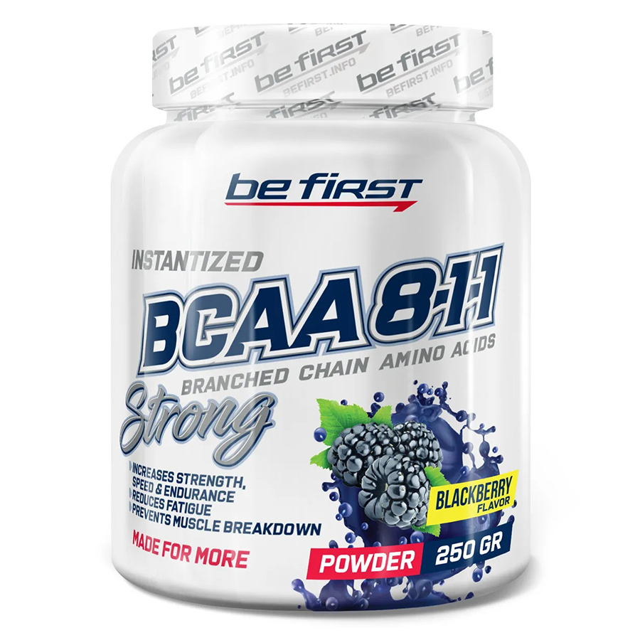 Be First, BCAA 8:1:1, Instantized Powder, ежевика 250 г