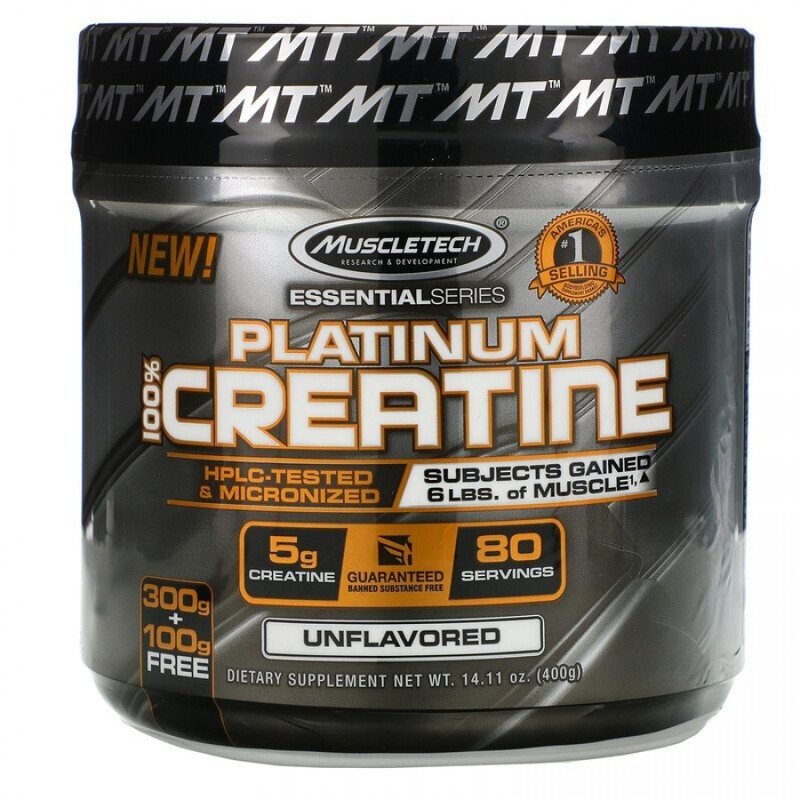 Muscletech, Essential Series, Platinum 100% Creatine, 400 г