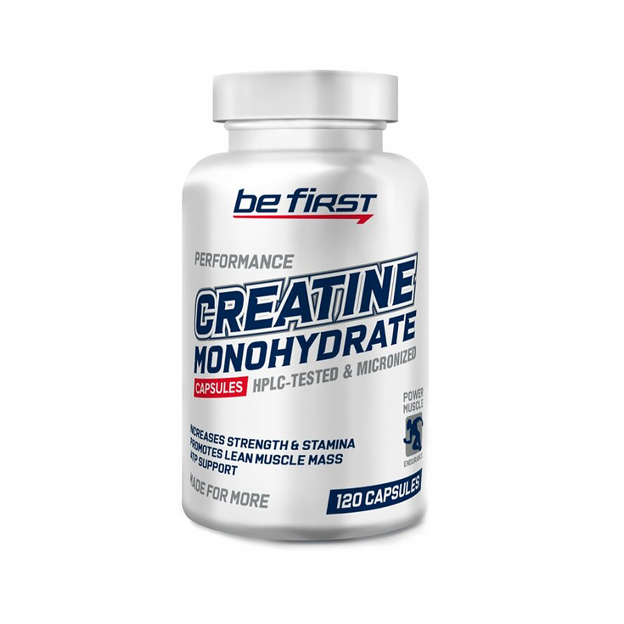 Be First Creatine Monohydrate, 120 Caps