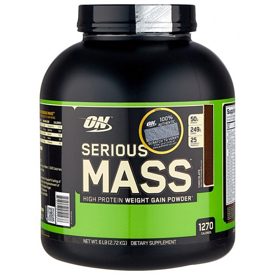 Optimum Nutrition, Serious Mass, Шоколад, 2.72 кг