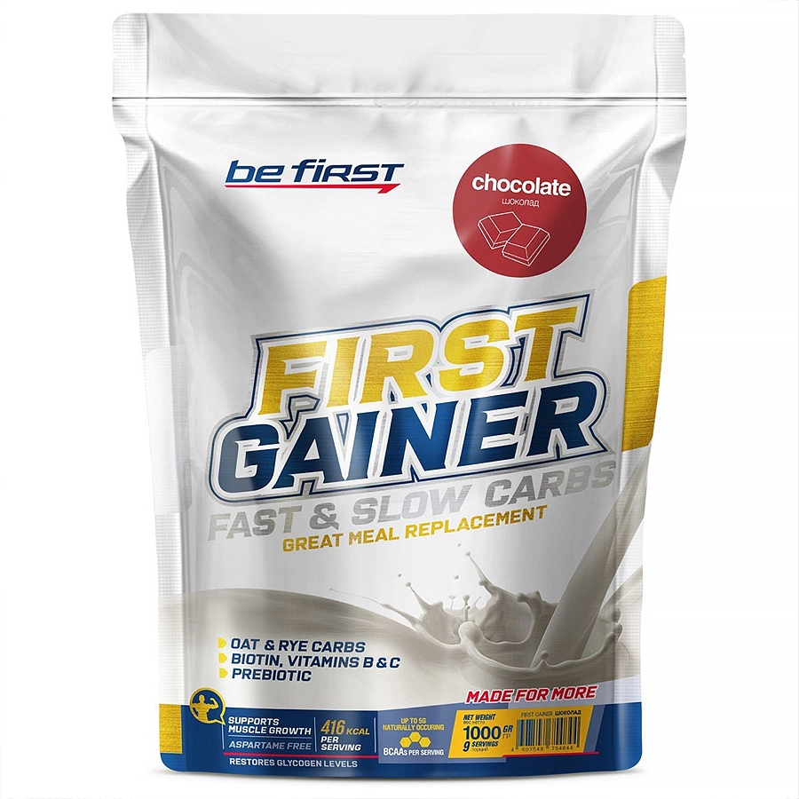 First Gainer Fast & Slow Carbs, Be First, Шоколад, 1000 г
