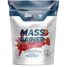 Mass Gainer, GeneticLab, Клубника, 1000 гр