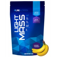 Light Mass Gainer Rline, банан, 1000 г