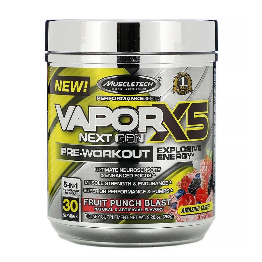 Muscletech, VaporX5, Next Gen, ягодный пунш, 263 г
