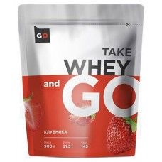 Whey Go Protein, клубника, 900 г