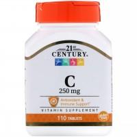 21st Century, Vitamin C, 250 MG, 110 таб