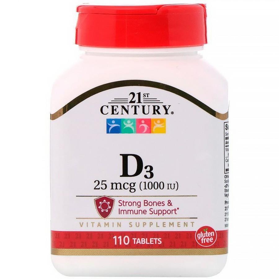 21st Century, Витамин D3, 1000 IU, 110 таблеток