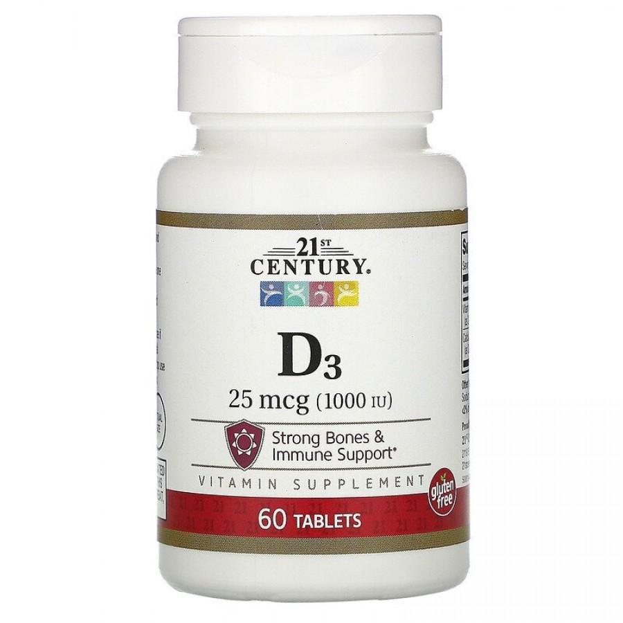 Vitamin D3, 1000 IU, 60 таблеток